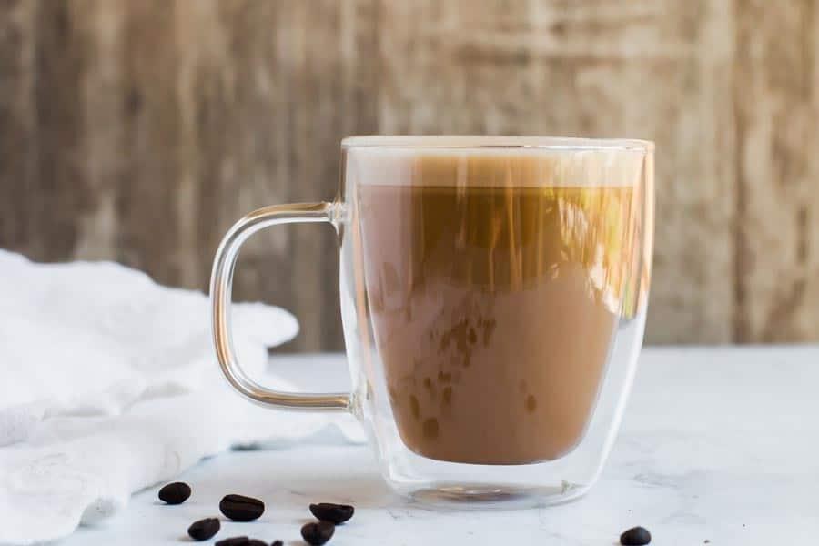 Keto bullet proof coffee in a mug