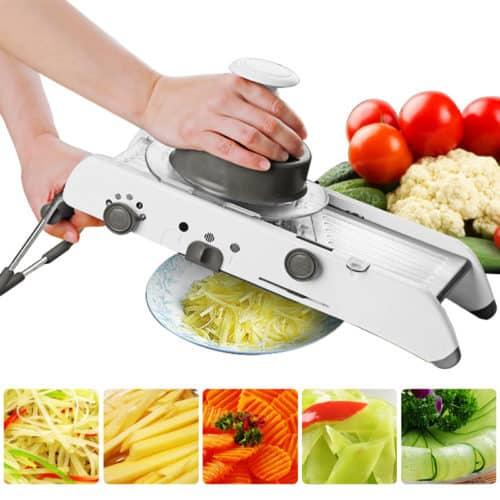 18 IN 1 Stainless Steel Mandoline Slicer Adjustable Kitchen Food Julienne Slicer