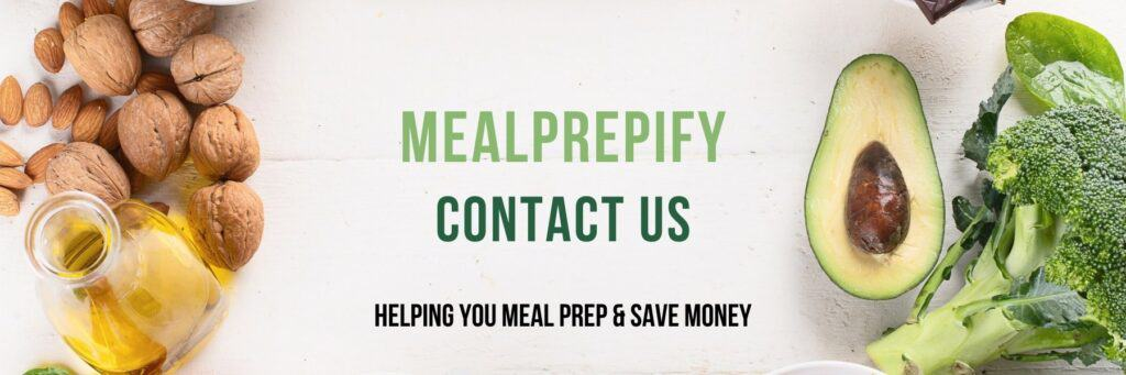Mealprepify Contact Us Page